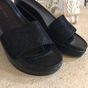 Donald Pliner Black Shimmer Sandals